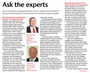 We ask leading suppliers of printers and print solutions for their thoughts