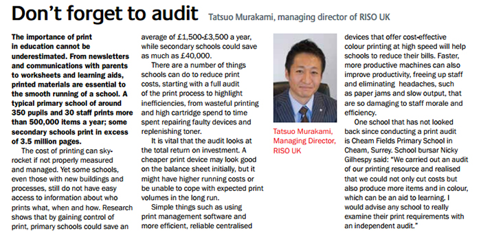 There are a number of things schools can do to reduce print costs