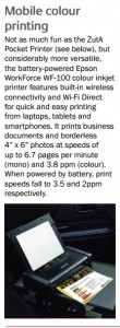 When powered by battery, print speeds fall to 3.5 and 2ppm respectively