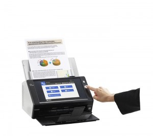 Users just have to walk up to a device, put their documents in the feeder and press scan