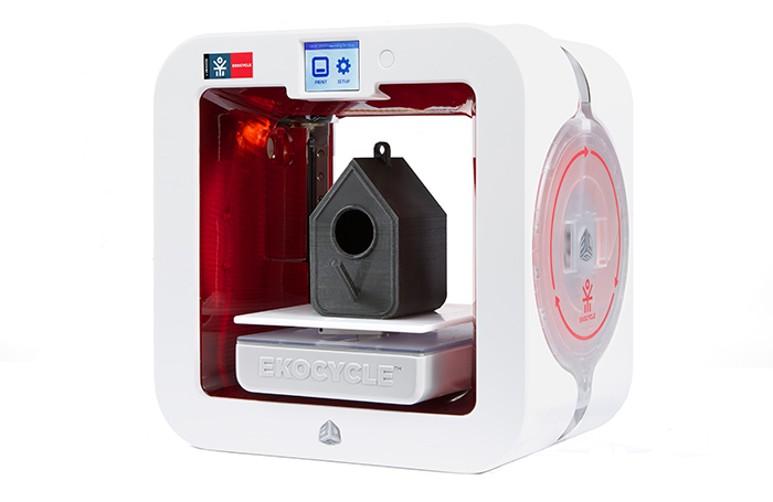The EKOCYCLE Cube 3D printer from 3D Systems