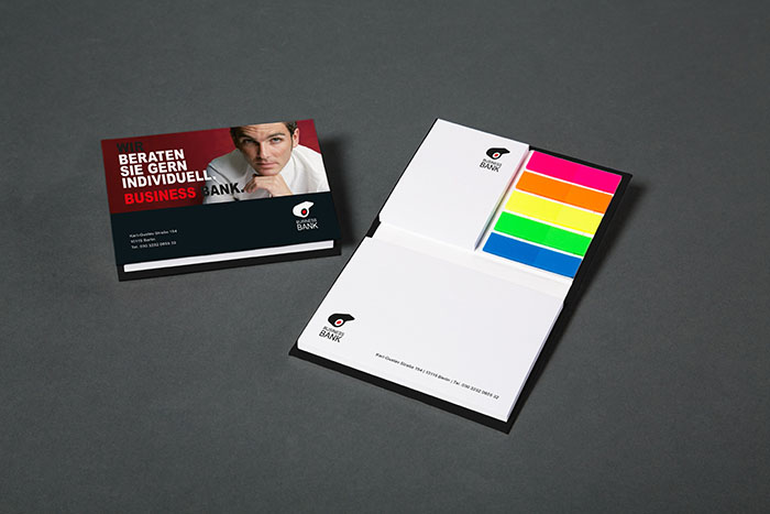 European online print company SAXOPRINT has expanded its business stationery range with sticky notes in customisable hard covers