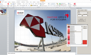 Kyocera Document Solutions has launched an 'add in' for Microsoft PowerPoint and Word that gives business professionals an easy way to utilise the full palette of Pantone colours