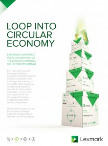 The app can be used to register for the Lexmark Cartridge Collection Programme (LCCP); to order a recycling container, including a smaller, postage paid Ecobox