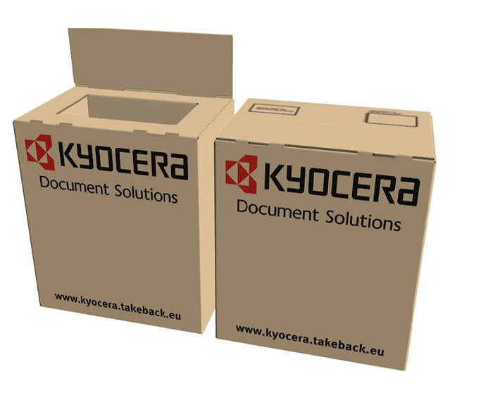The provision of fully branded boxes in a choice of two sizes is being carried out in partnership with LPR who will collect and recycle all Kyocera toner cassettes