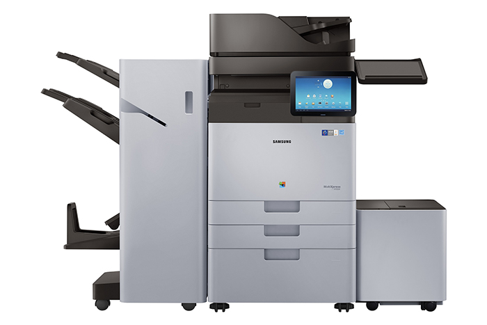 In addition, all print tasks are tracked and registered. To reduce duplicate or unnecessary printing, users can view all print jobs on the Android-based Smart UX MFP display