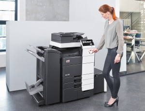 It has a paper capacity of up to 6,650 sheets, support for paper sizes up to SRA3 and an 80-page booklet maker.