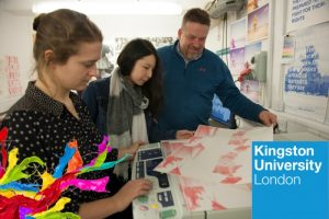 On campus at Kingston University