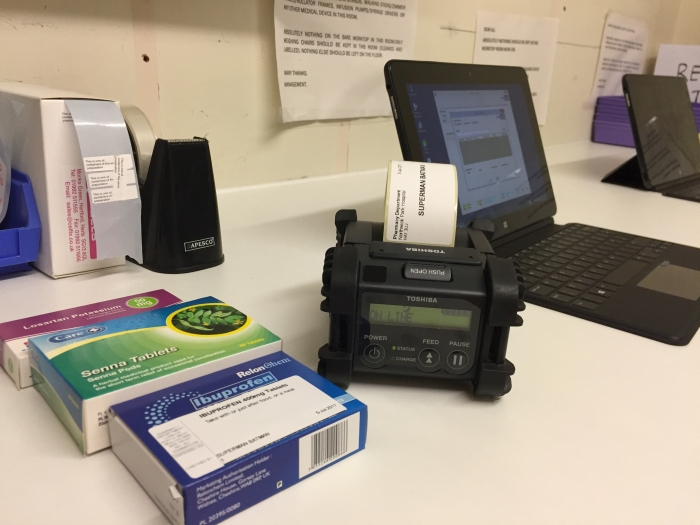Mobile printers being used by Northwick Park Hospital Pharmacy dept