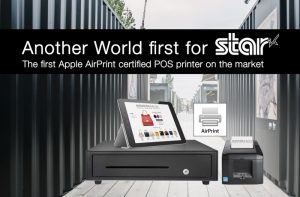 Apple AirPrint-certified receipt and ticket printer